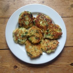 Potato and kale cakes