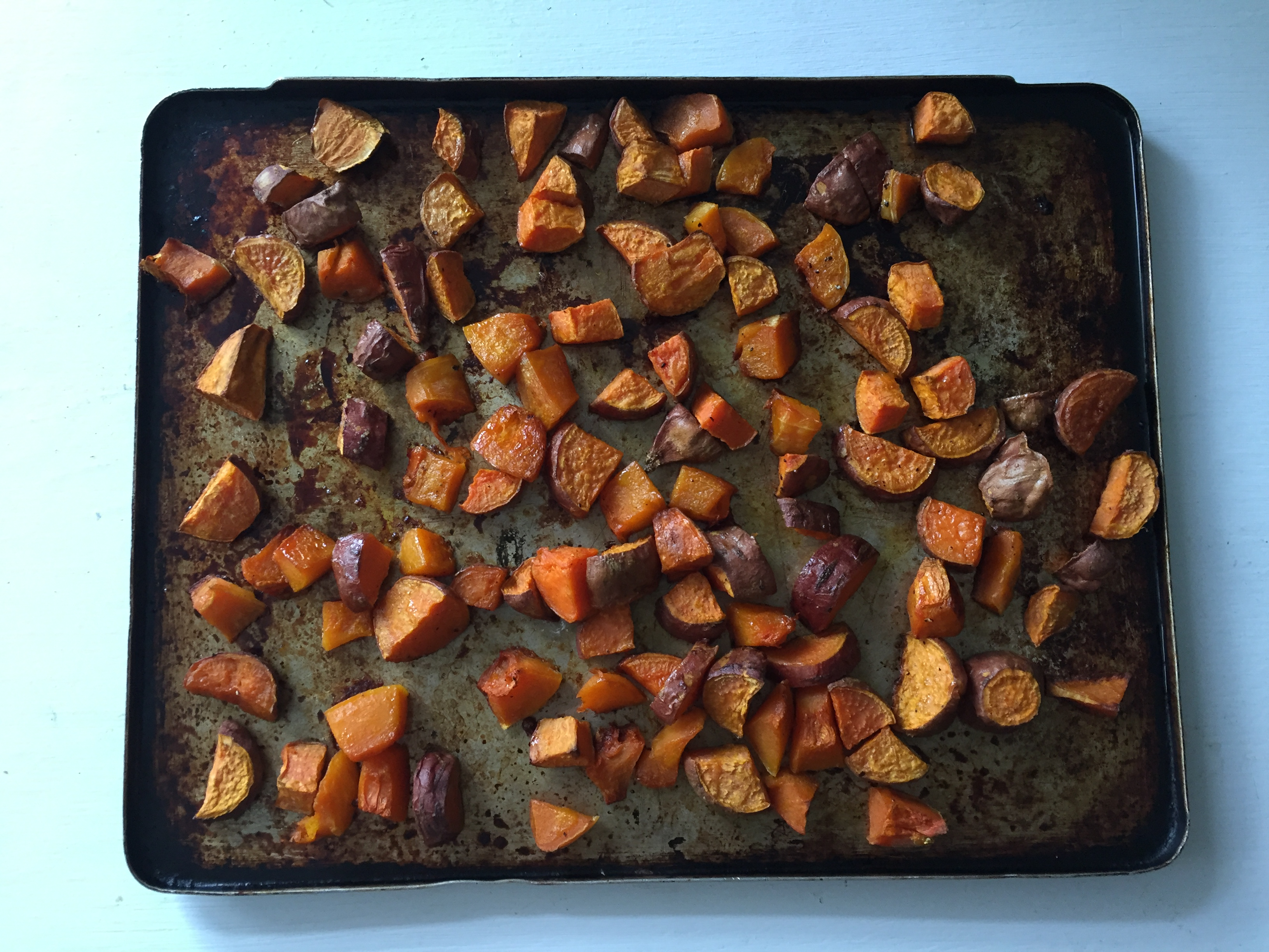 Squash and sweet potato medley with sage and pine nuts