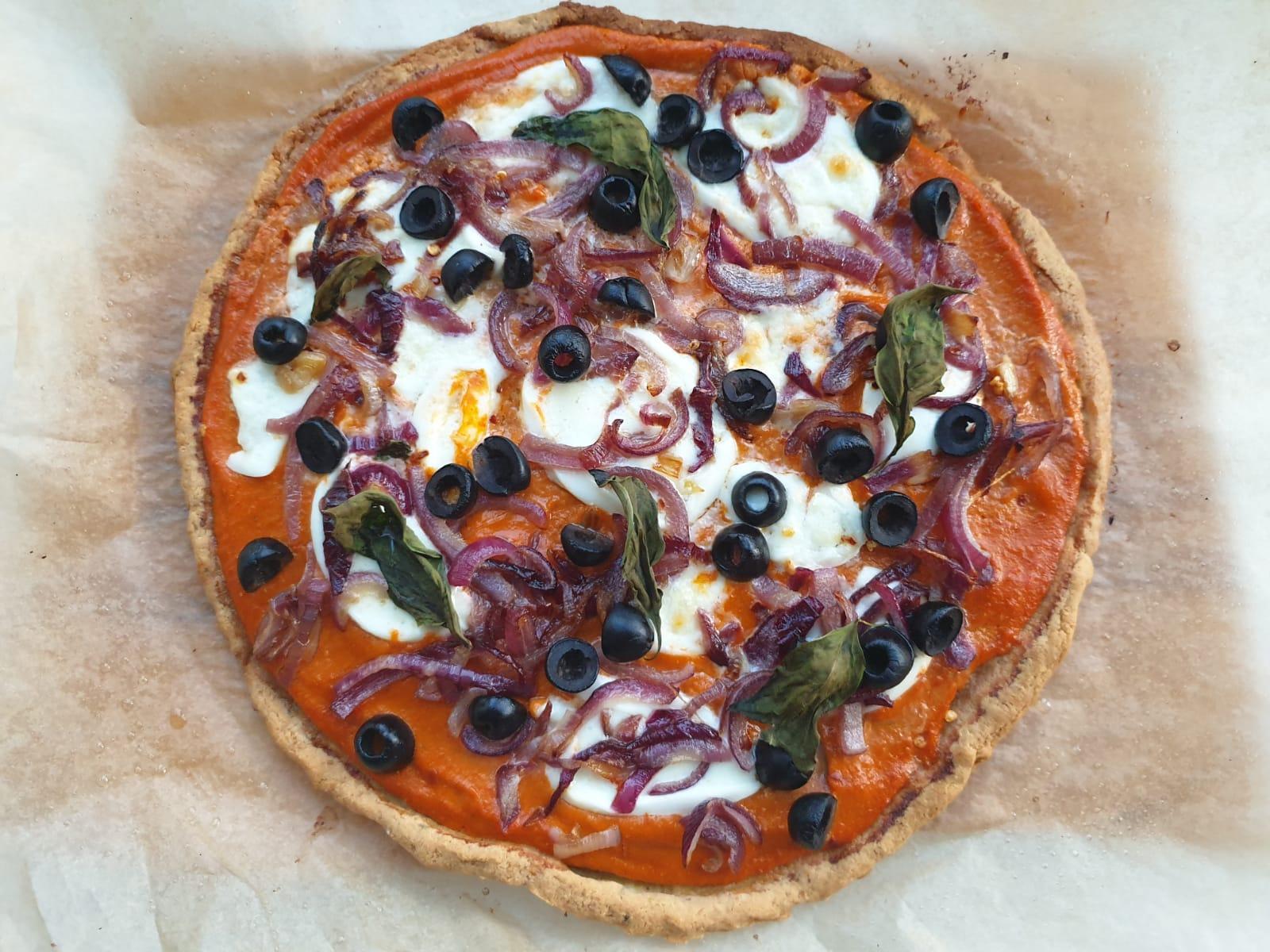 Gluten free + grain free pizza